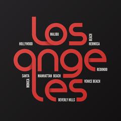 Los Angeles vector design, typography, print, logo, label, poste
