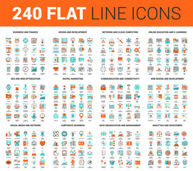 Flat Line Web Icons