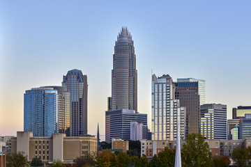 Charlotte, North Carolina Skyline in November 2016