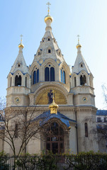 Orthodox cathedral Saint Alexander Nevsky in Paris, France.