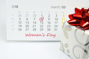 International Women's Day, 8 March.