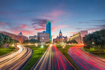 Fototapete - Dealey Plaza Dallas Texas