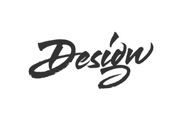 Creative design lettering. Vector inscription with brush texture. Hand drawn typography