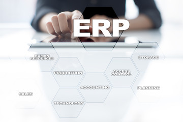 Enterprise resources planning business and technology concept.