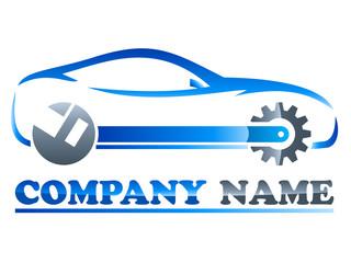 Wall Mural - Logo für Autowerkstatt / Autotuning