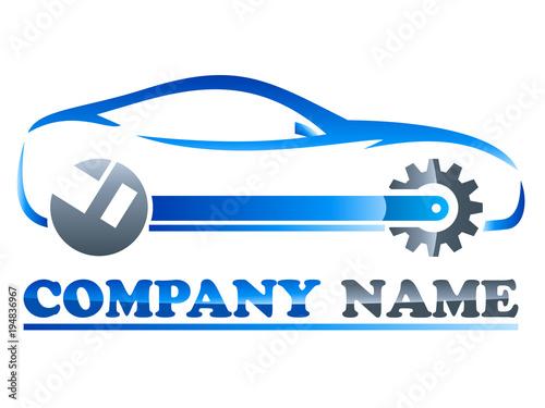 Wall mural Logo für Autowerkstatt / Autotuning