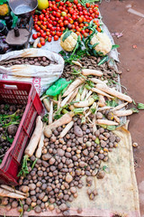 Food street market in Kathmandu, Nepal