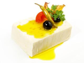 Feta Käse mit eingelegtem Gemüse