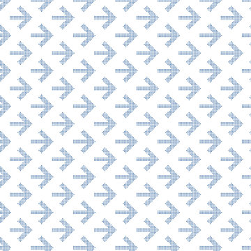 Dotted Arrow pattern for your design. Seamless vector