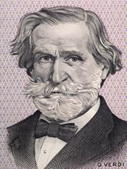 Giuseppe Verdi portrait from Italian money