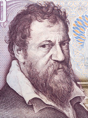 Lambert Lombard portrait from Belgian money