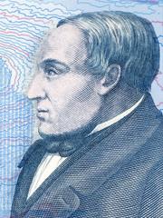 Jonas Hallgrimsson portrait from Icelandic money