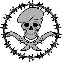 symbol of special forces. second variant. vector illustration