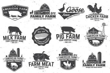 American Farm Badge or Label. Vector illustration. Wall mural