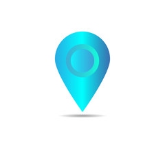Vector of map pointer icon. GPS location symbol. Flat design style.