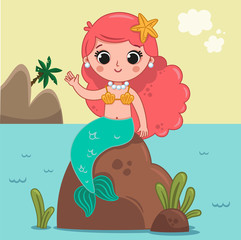 Little Mermaid (Vector illustration)
