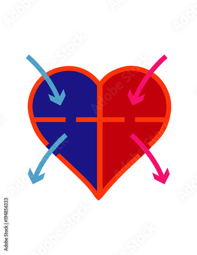 Simple diagram of flow of blood through heart stock image and simple diagram of flow of blood through heart ccuart Image collections