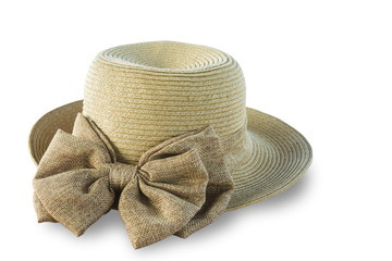 Lady hat isolated on white background. This has clipping path.