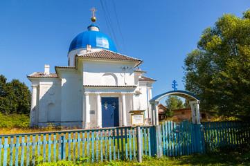 Orthodox church of St. Catherine the Great Martyr in Rovnoe, Novgorod region, Russia