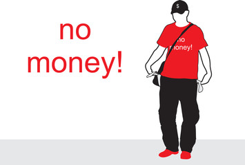 No money. The guy in the hat. Empty pocket