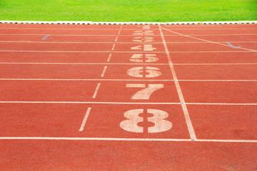 Empty running track background