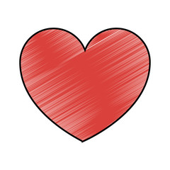 heart love health care medical symbol vector illustration drawing design