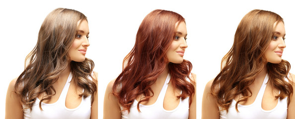 Different Hair Tones.Coloring Hair