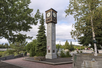 The city center of Fairbanks, Alaska