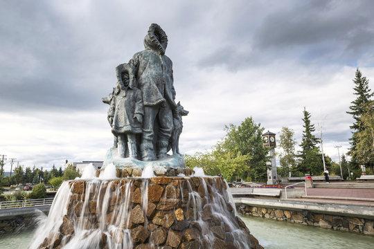 The city center of Fairbanks, Alaska