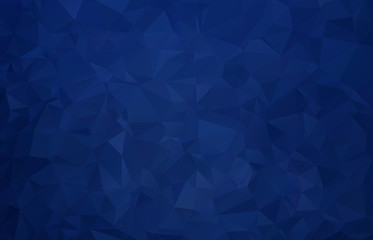 Vector Dark blue Polygon Abstract modern Polygonal Geometric Triangle Background.