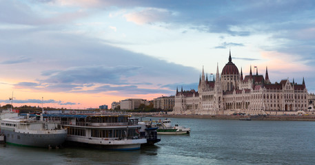 Image of building of Parliament in Budapest of Hungary