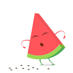 funny watermelon lost its seeds clipart