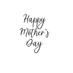 Happy Mother's day postcard. Holiday hand lettering greeting card. Modern calligraphy. Isolated on white background.
