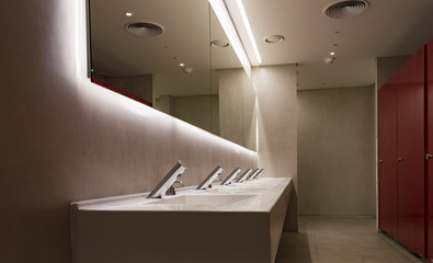 Commercial bathroom for washing hands