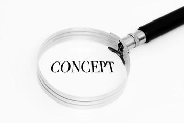 Concept in the focus