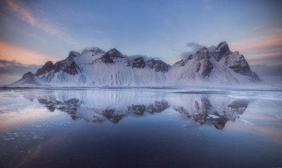 Vestrahorn mountains at Stokksnes beach in Iceland Wall mural