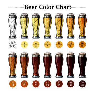 Beer color chart