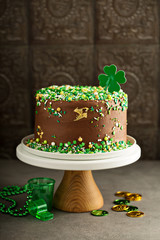 St Patricks day chocolate cake