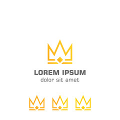 Abstract crown, gold crown. Vector logo template