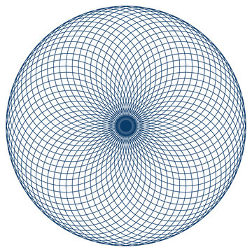 Sacred geometry vector illustration: Torus Yantra, known as Hypnotic Eye. Torus Yantra is a basic element made by circles and Seed or Flower of Life symbol.