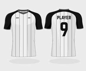 Vector isolated football uniform on white background