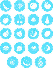 A set of fruit icons