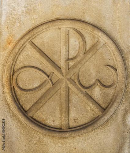 Christogram Chi Rho Charisma Or Chrismon Monogram Of The Name Of