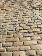Cobble stone road
