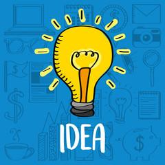 bulb light idea creativity business vector illustration