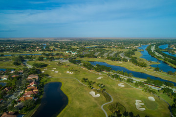 Weston Florida aerial drone image