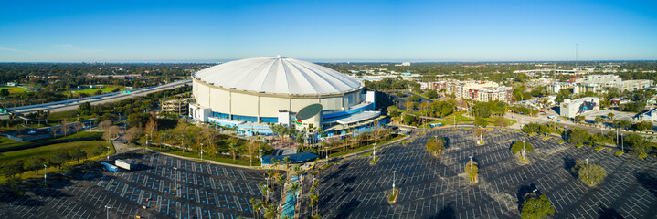 Aerial drone image Tropicana Field St Petersburg Florida USA