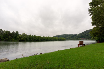Park on the banks of a river - Tennessee