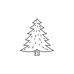 Pine icon. Element of camping and outdoor recreation for mobile concept and web apps. Thin line icon for website design and development, app development. Premium icon