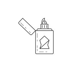 lighter icon. Element of camping and outdoor recreation for mobile concept and web apps. Thin line icon for website design and development, app development. Premium icon